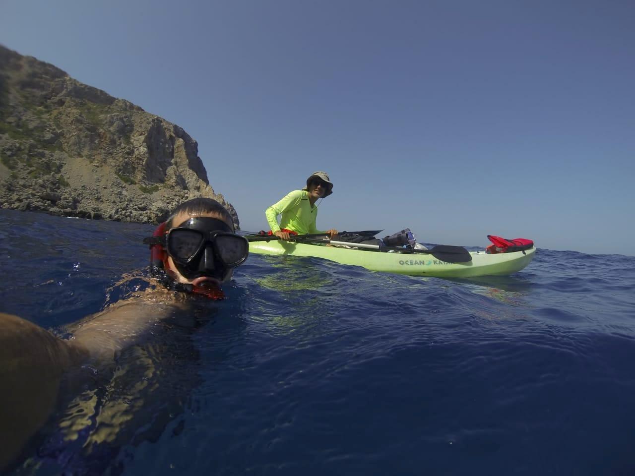 Kayaking to Balos