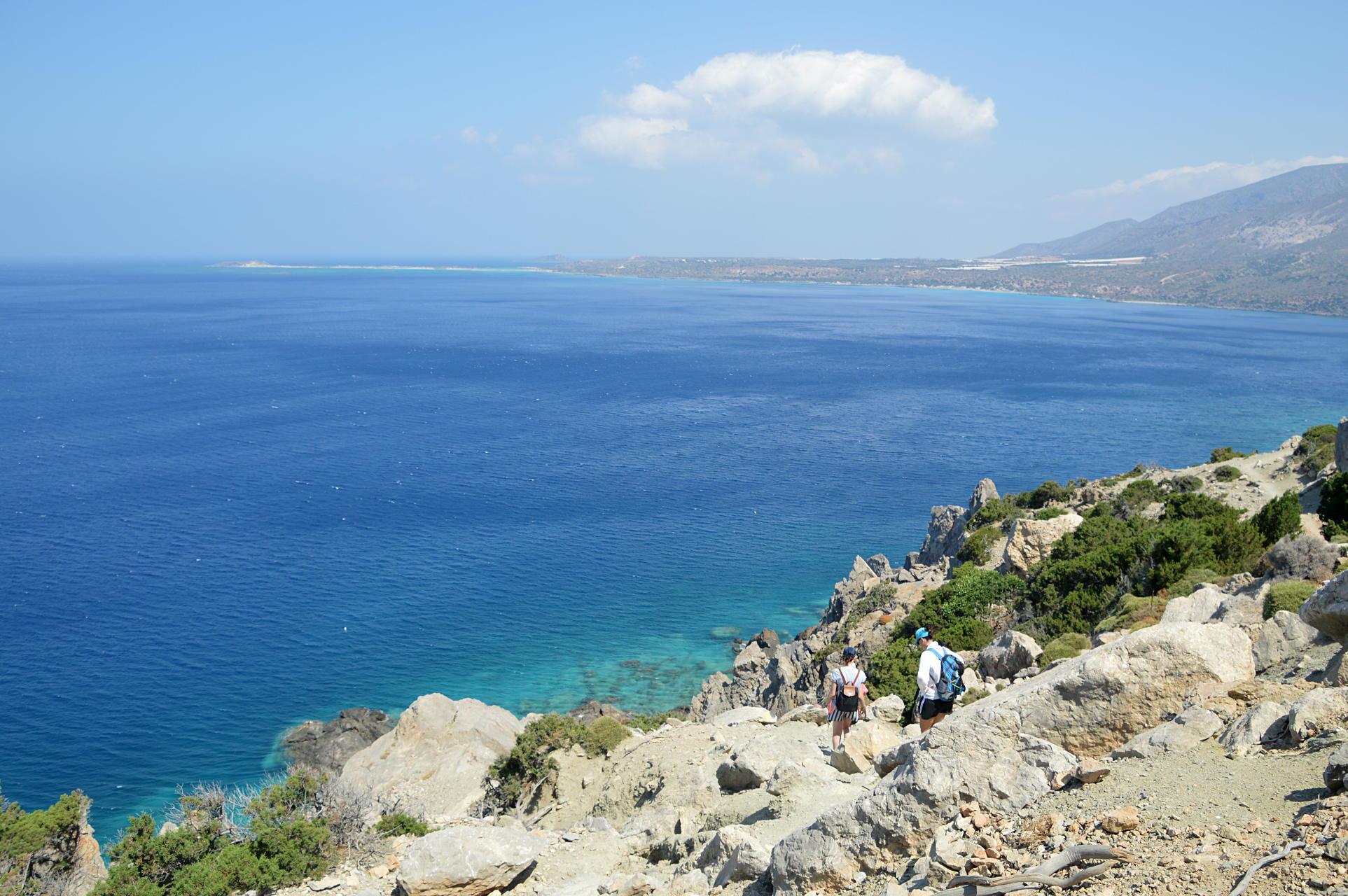 Hiking to Elafonissi
