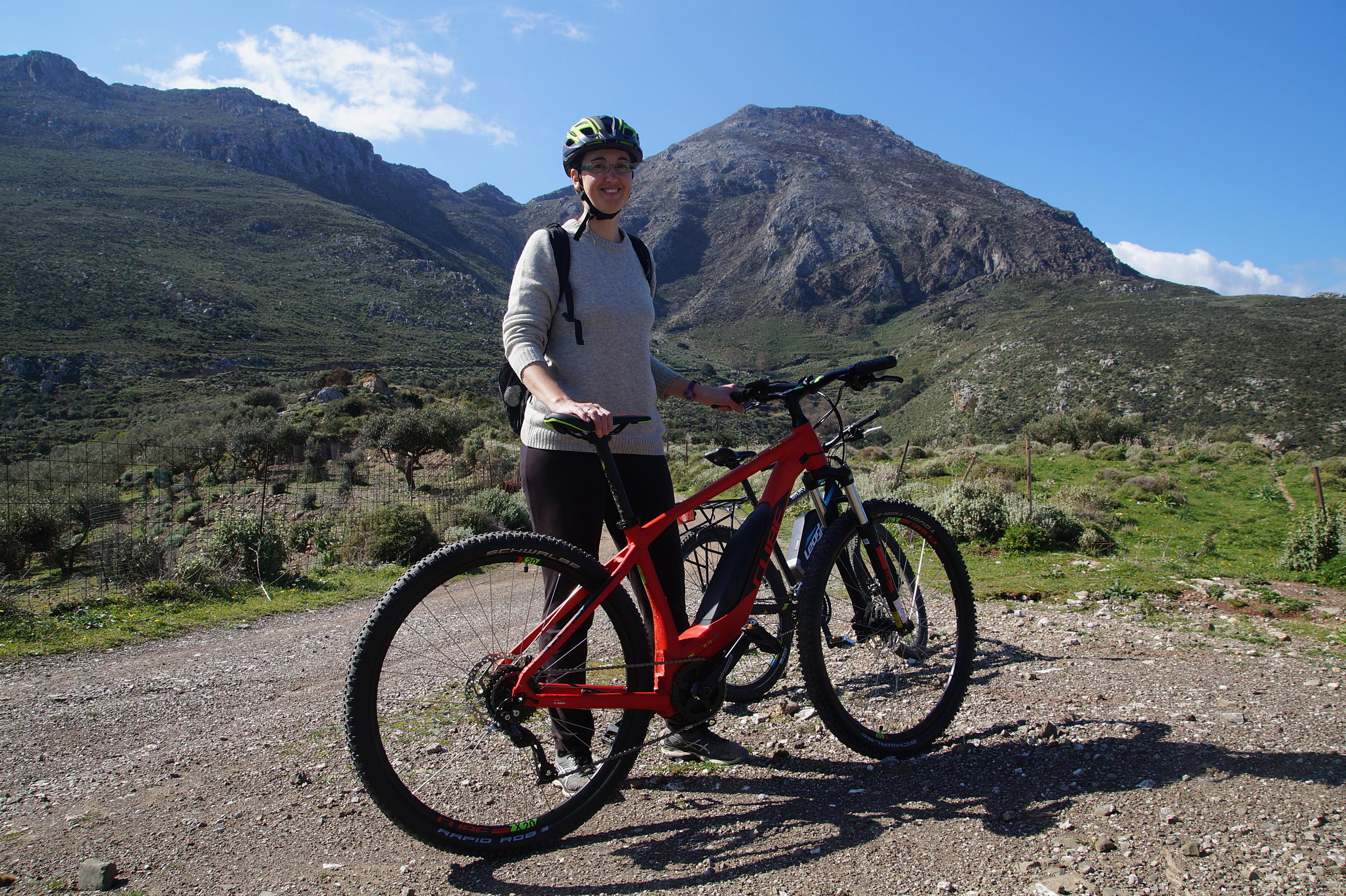 E-bike to Manna mountain, Kissamos