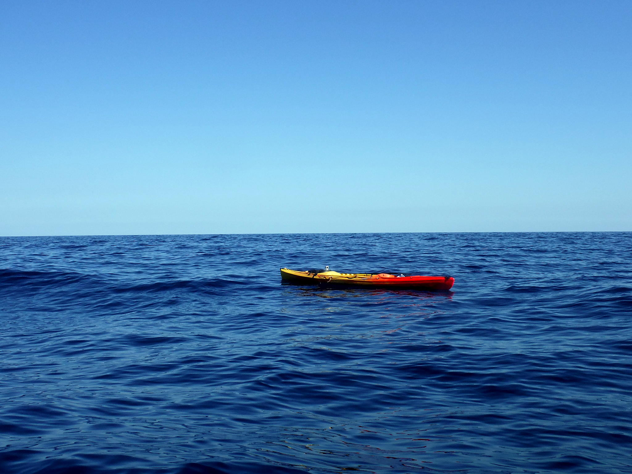 A lonely Kayak in West Crete