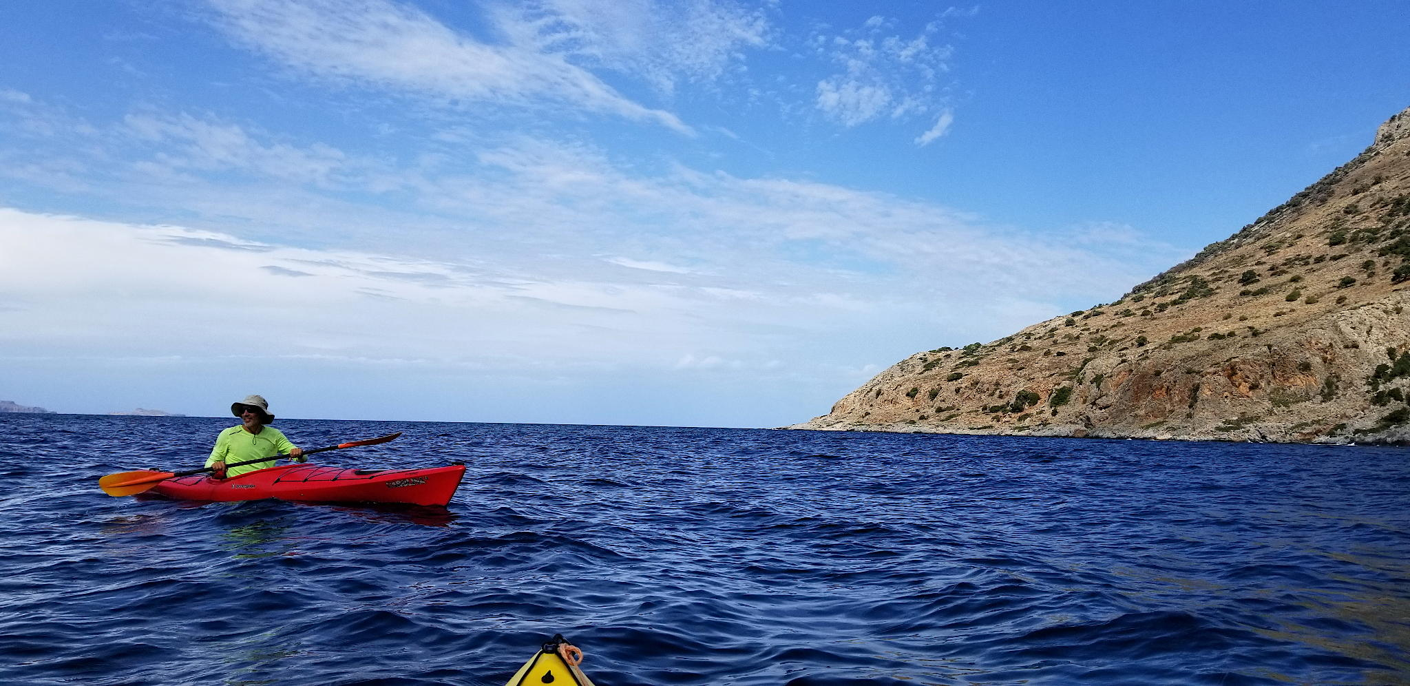 Kayaking along Rodopo peninsula