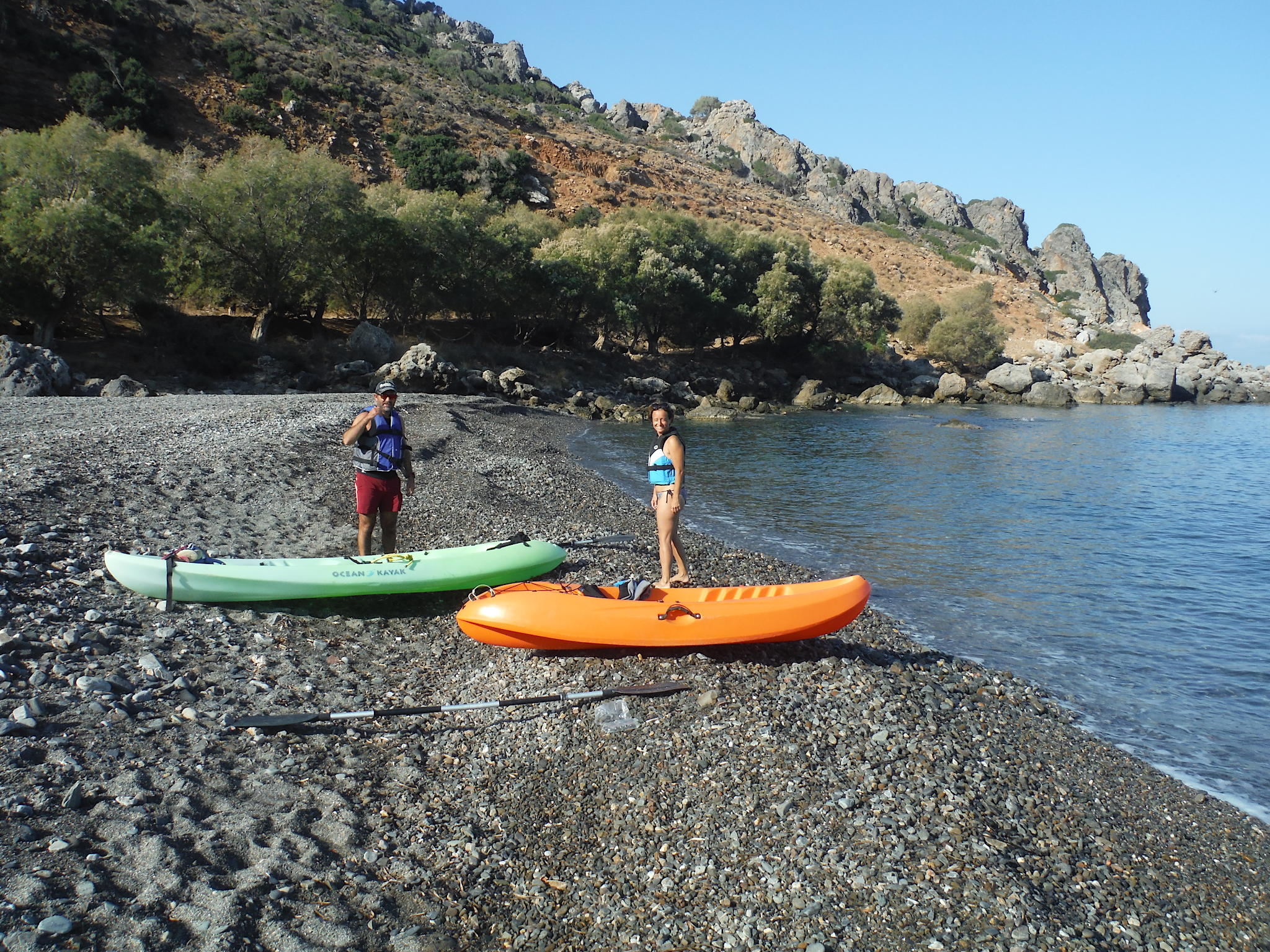 Kayak in Sfinari